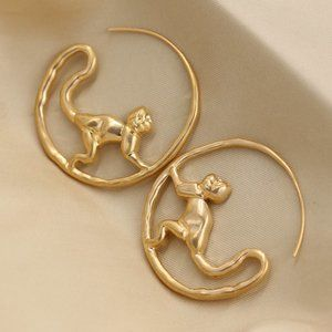 Tory Burch Monkey Hoop Earrings